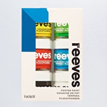 Reeves Poster Paint Pot Assorted Colours Set of 6